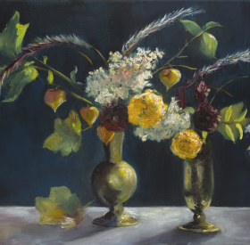 Marigolds-and-Brass-Vases