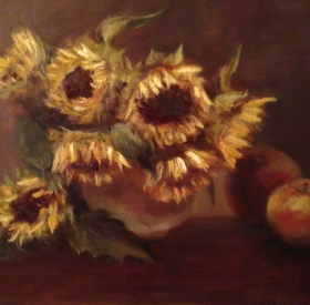 Sunflowers and Apples