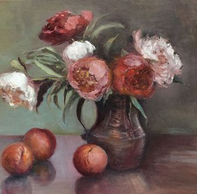 Peonies and Peaches © Copyright Maryellen Vickery
