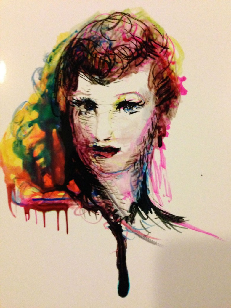 Red Girl by Maryellen Vickery
