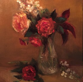 Roses & Hydrangea by Maryellen Vickery
