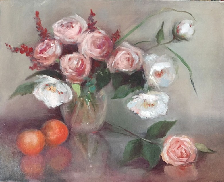 Roses & Oranges by Maryellen Vickery