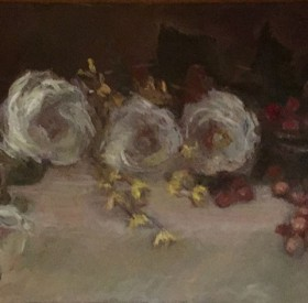 White Roses & Grapes © Copyright Maryellen Vickery
