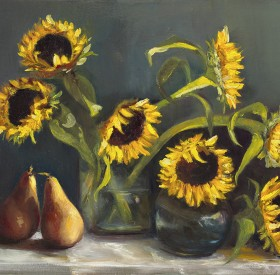 Pears & Sunflowers