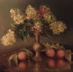 Hydrangea with Apples © Copyright Maryellen Vickery