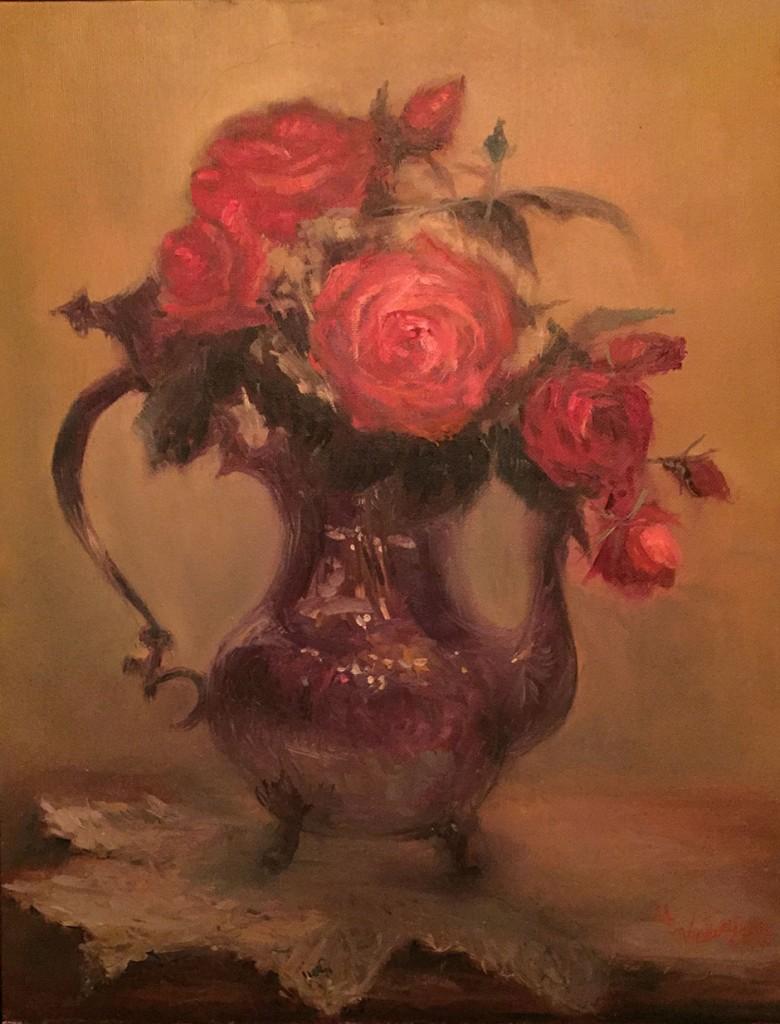 Roses & Silver © Copyright Maryellen Vickery